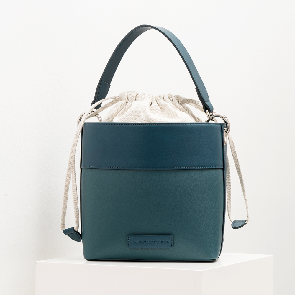 New bucket bag_blue green