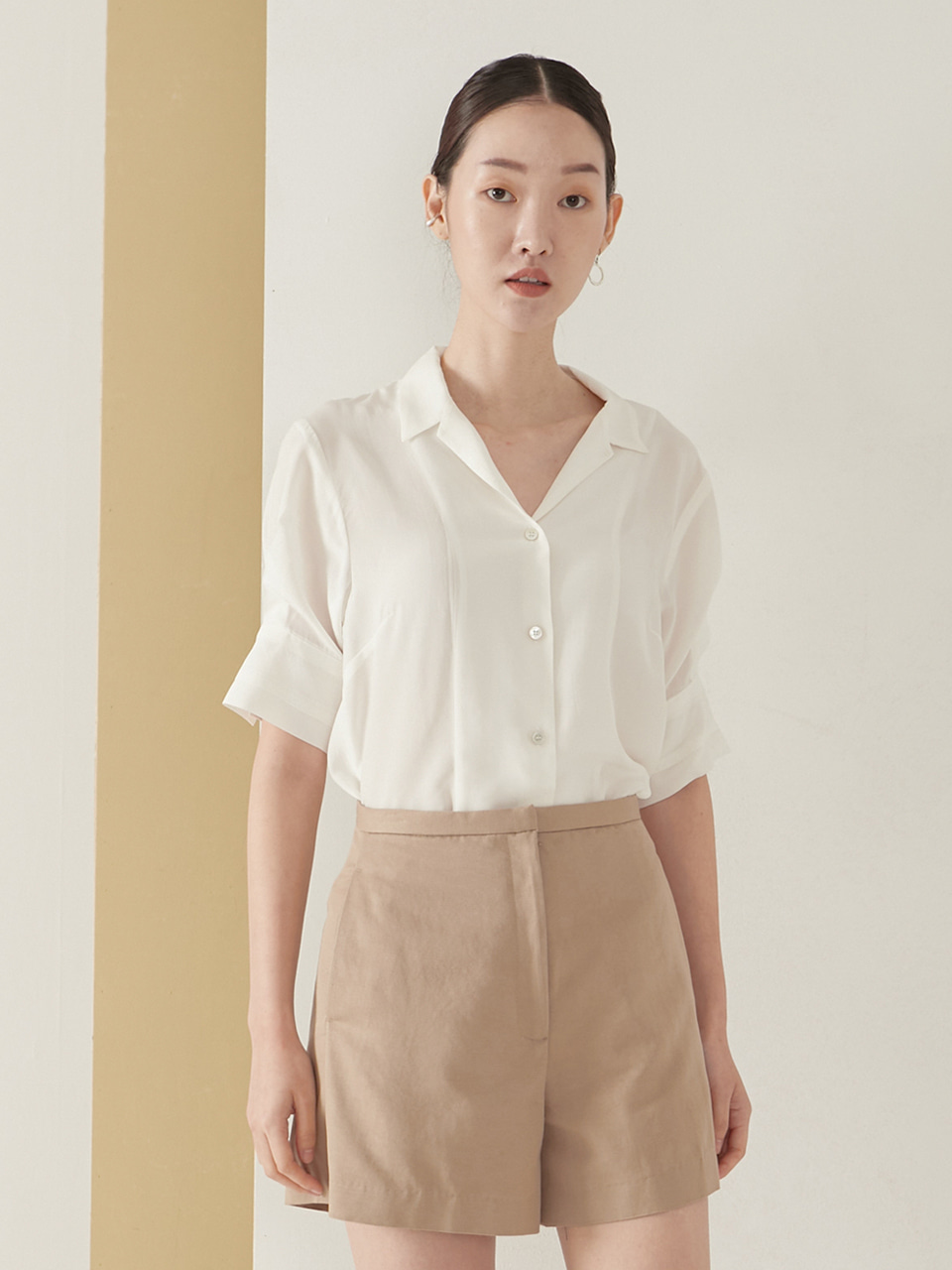 Viscose tailored blouse_white