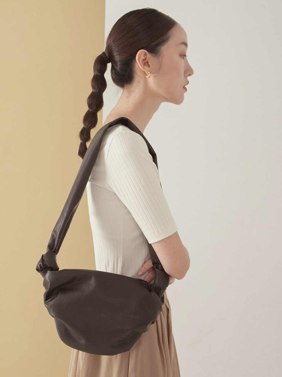 Dumpling mini bag_brown