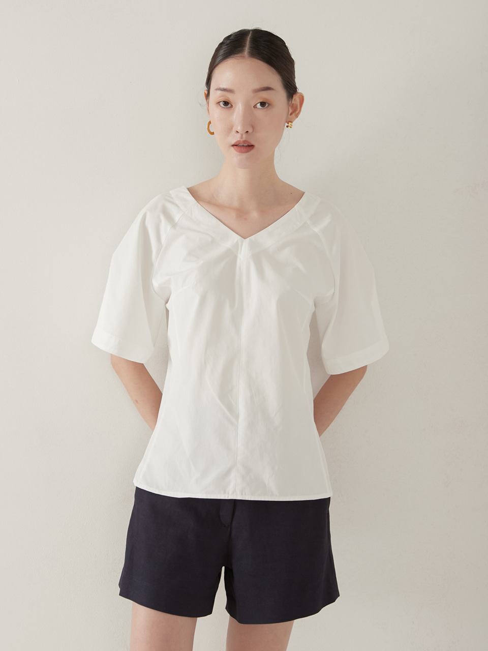 Cutting blouse_white